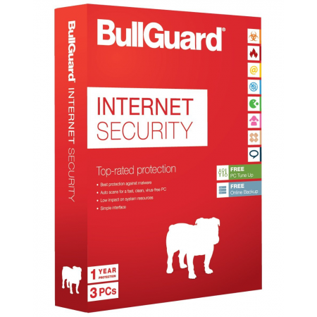 3PC-1jaar Bullguard InternetSecurity, multi-device